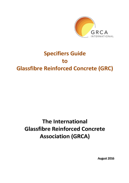 GRC/GFRC Facades - Specifiers Guide to GRC