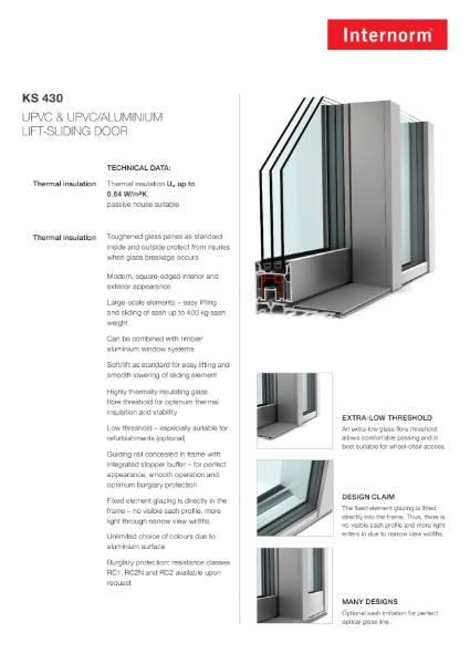UPVC & UPVC/ALUMINIUM Lift-Sliding Door