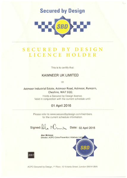 Secured by Design Certification
