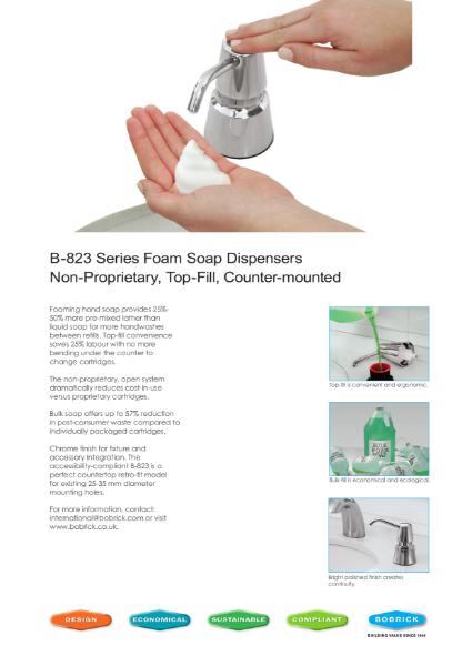 Counter-Mounted Foam Soap Dispenser