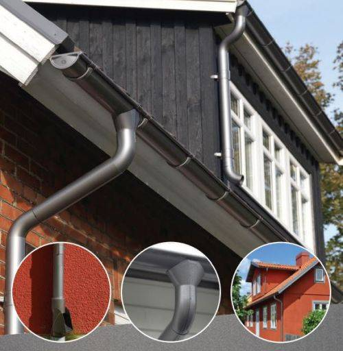 Rainline Anthracite Metallic Gutters