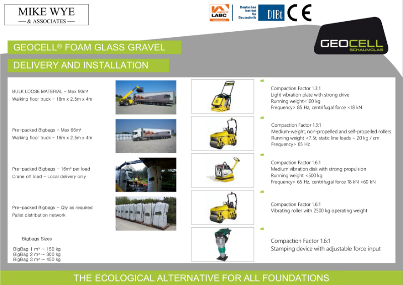 GEOCELL Delivery and Compaction Details
