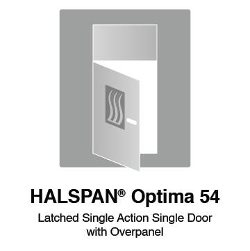 HALSPAN® Optima 54 mm Internal Fire Rated Door Blank - Latched Single Acting Single Doors With Overpanel