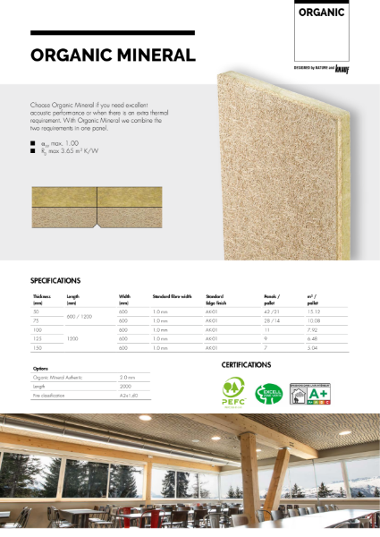 Organic Mineral datasheet