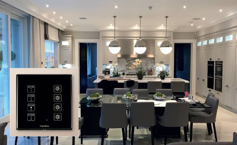 Residential: Hamilton's stylish smart lighting control provides seamless functionality in stunning £4.75m Surrey property.