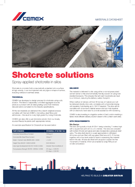 Shotcrete Solutions- Spray Applied Concrete in Silos