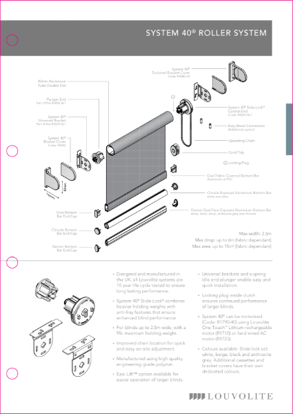 Roller System 40® Technical Specification