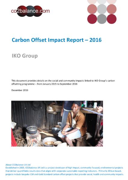 Impact Report 2016 (IKO Group)