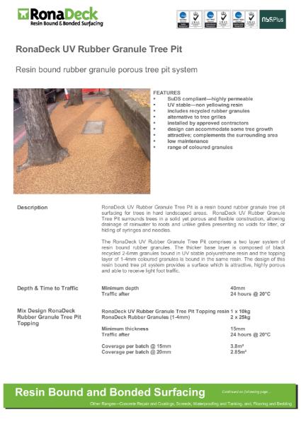 RonaDeck Rubber Granule Tree Pit