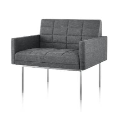 Tuxedo Component Club Chair with Arms