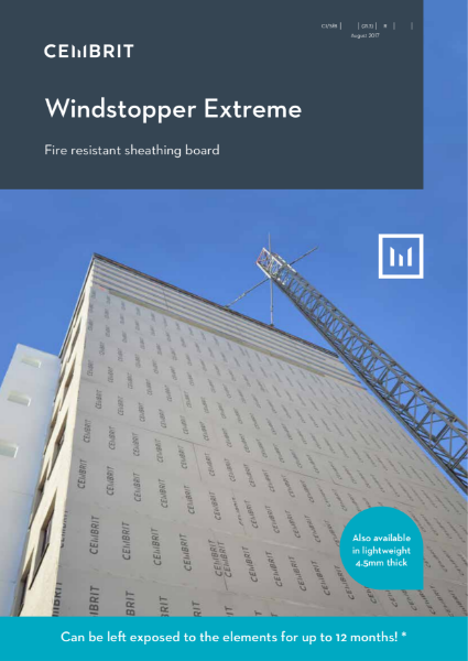 Windstopper Extreme; Fire reisistant /sheathing/partition board
