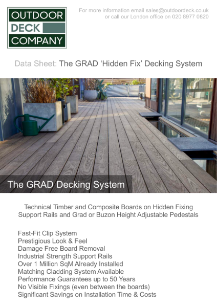 Grad `Hidden Fix` Decking System Data Sheet