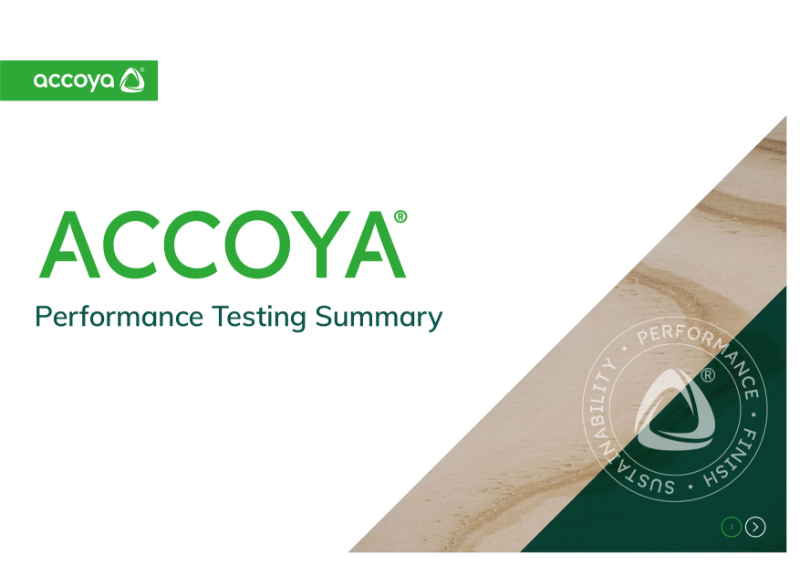 Accoya - Performance Testing Summary