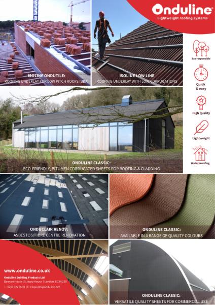 Onduline Bituminous Corrugated Roof Sheets