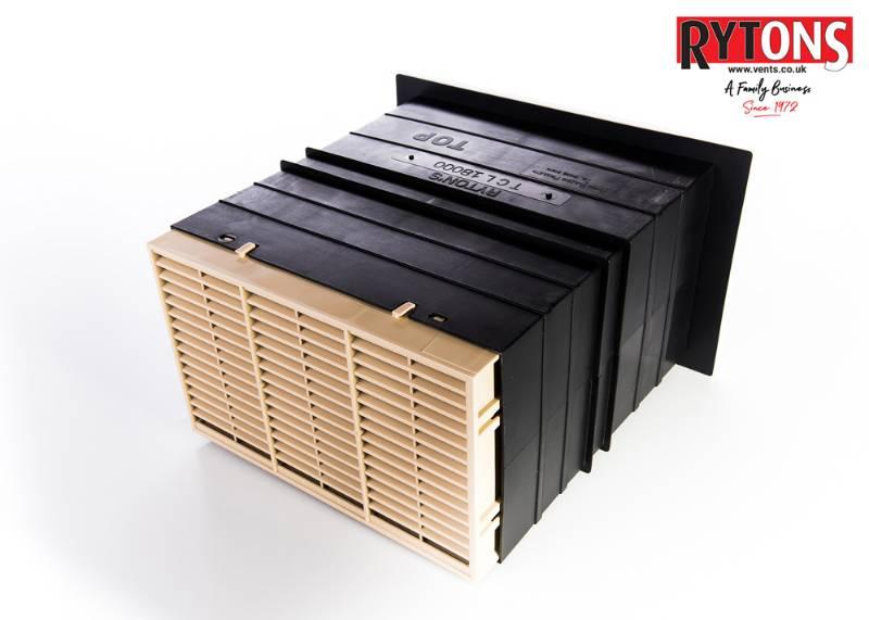 Rytons 9 x 6 Acoustic AirLiner® Set with Flush Louvre Ventilator Range