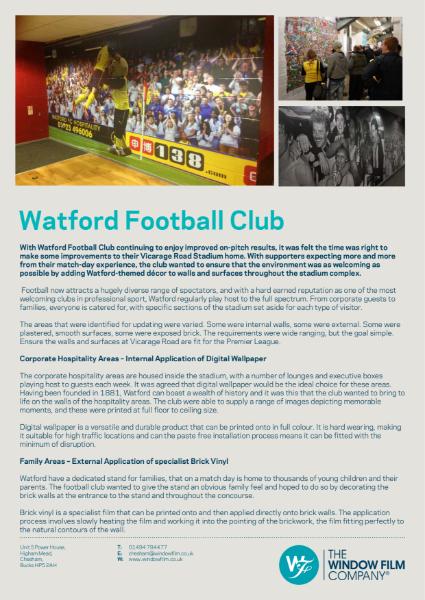 Printed Graphics and Digital Wallpaper for Watford FC