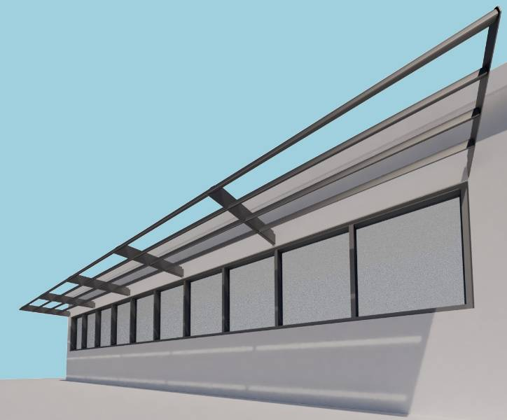 Shadex 260 System - Fixing within Steelwork