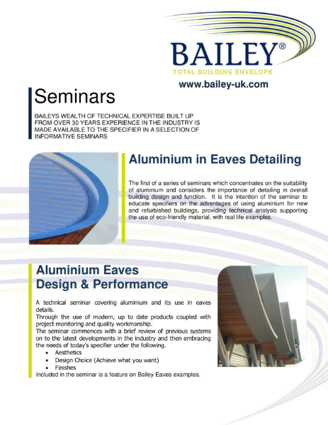 Bailey non-RIBA Assessed CPD Seminars