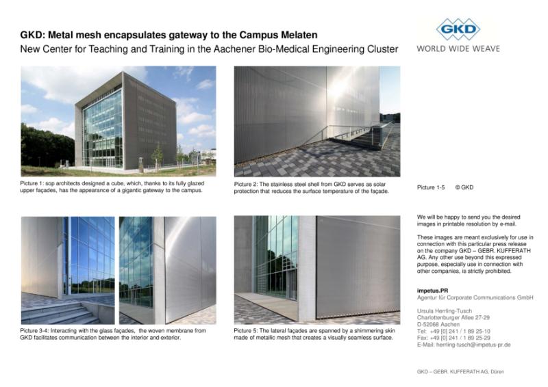 GKD: Metal mesh encapsulates gateway to the Campus Melaten