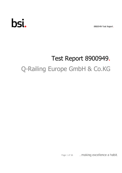 BS 6180 Smart Test Data