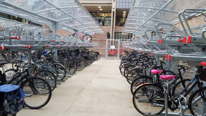 CAMBRIDGE UNIVERSITY HOLD OUR LARGEST INSTALL OF TWO TIER PARKING