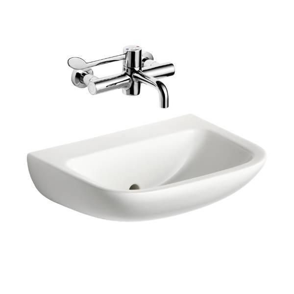 Contour 21 - 50 cm Back Outlet Washbasin