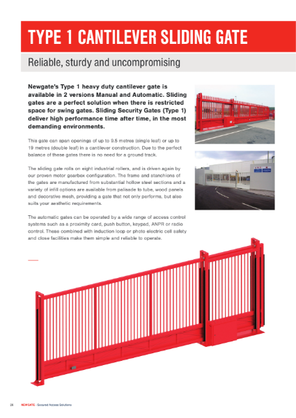 Type 1 Sliding Gate