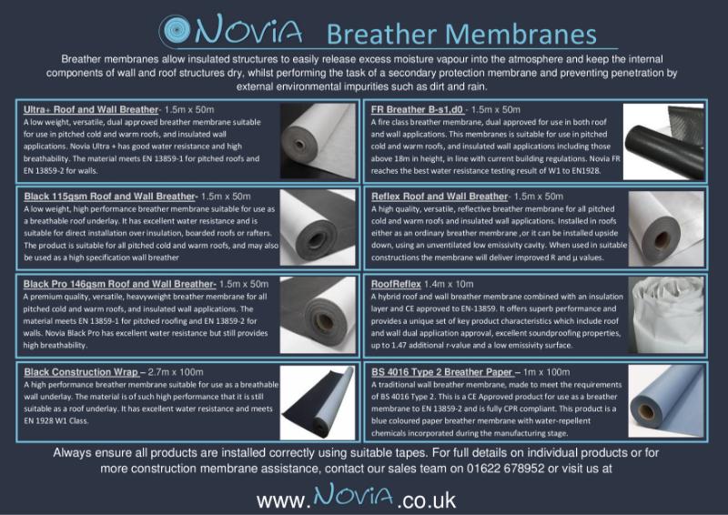Novia Breather Membranes
