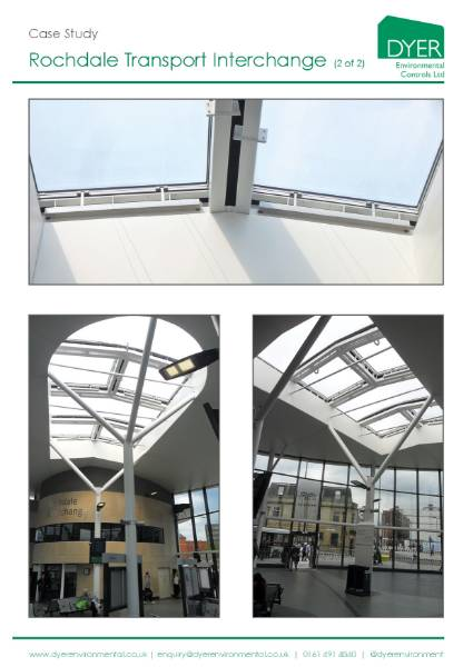 Natural ventilation at Rochdale Transport Interchange