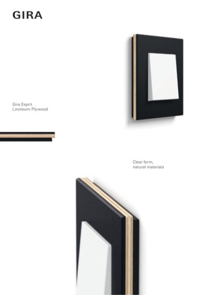 Gira Design Lines Esprit Linoleum-Multiplex
