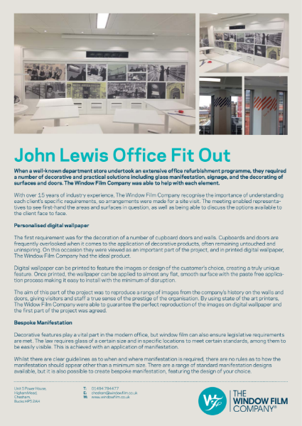 John Lewis Office Fit-Out