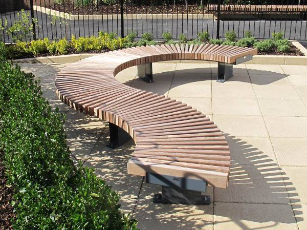 Curved seating enhances school extension project