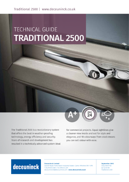 01. Traditional 2500 Storm Casement Window Datasheet