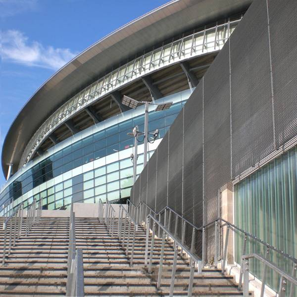 Emirates Stadium: barrier fencing, security screening, balustrading and wall cladding.