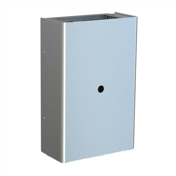 Wall mounted waste bin with square opening, 45 l