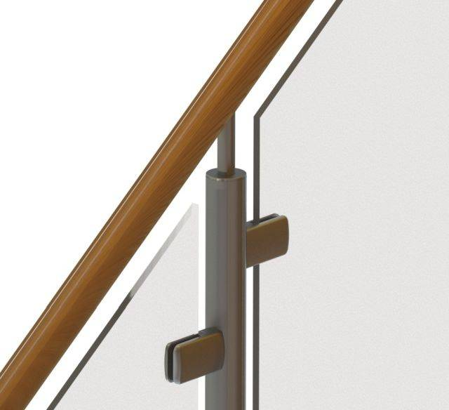 Timberline Wood-effect Aluminium Balustrade