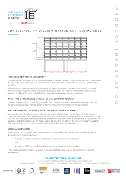 DDA Compliance Guide - The Safety Letterbox Company