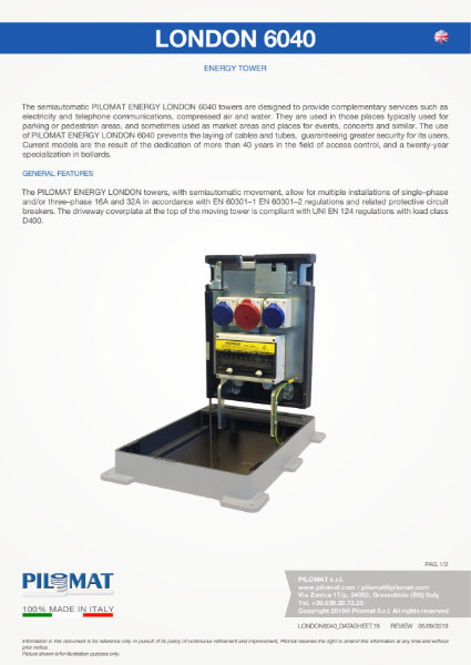 Macs 6040 Energy Distribution Tower Data Sheet