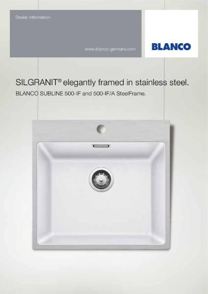 The New BLANCO Subline Steel Frame Sink Range