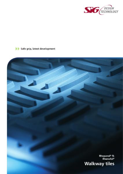 FDT Rhepanol fk and Rhenofol Single Ply Walkway Tiles Brochure