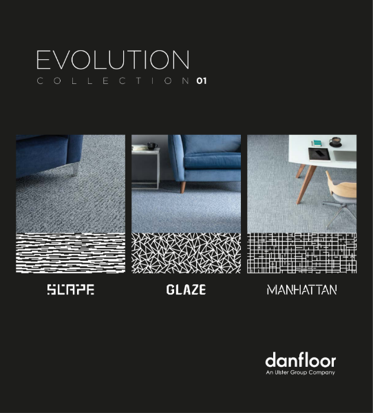 Evolution Carpet Collection: Glaze, Manhattan and Scape