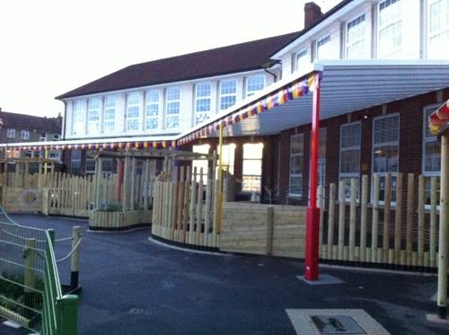 Ark Oval Primary Academy - Wall Mounted Canopy