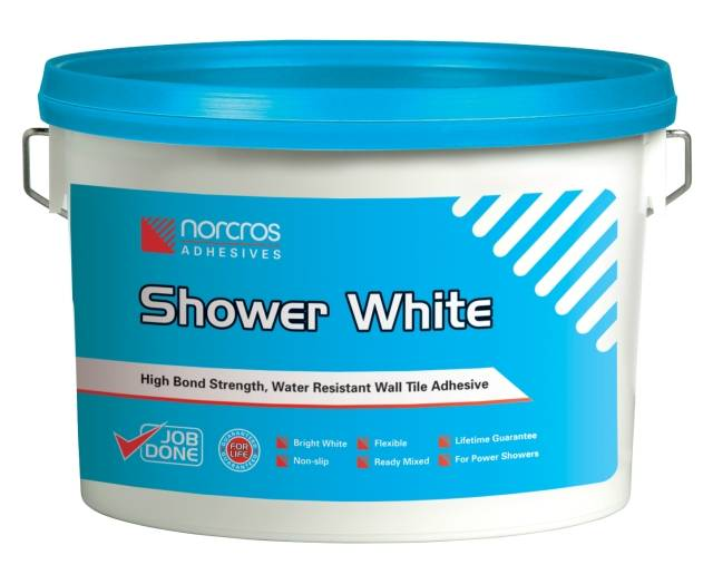 Shower White Tile Adhesive