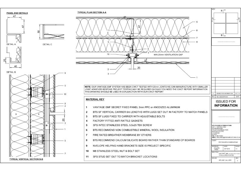 Vantage EMF Specification Drawing