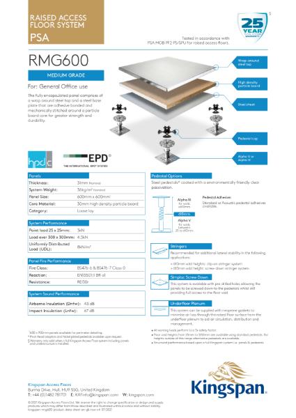 RMG600 (Medium Grade Access Floor)