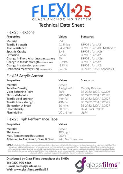 Flexi 25 Technical Data Sheet