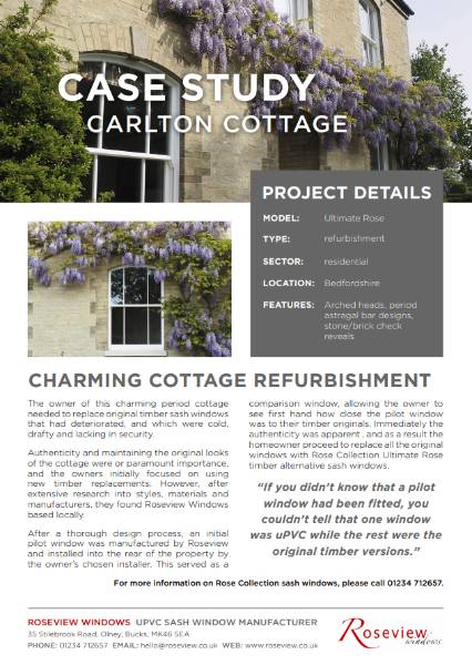 Ultimate Rose - Carlton Cottage