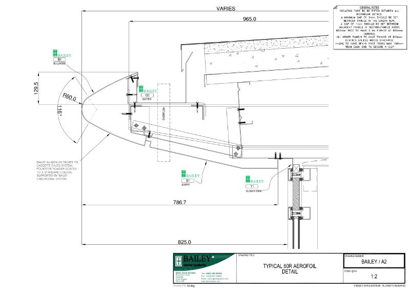 Aluminium Fascia, Soffit, Rainscreen and Rainwater Systems typical details