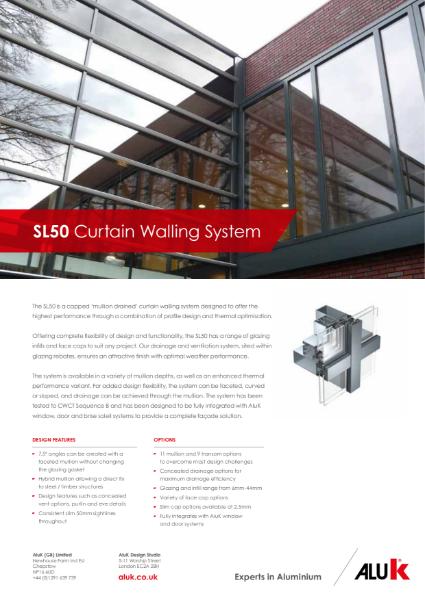 AluK SL50 Curtain Walling System Datasheet