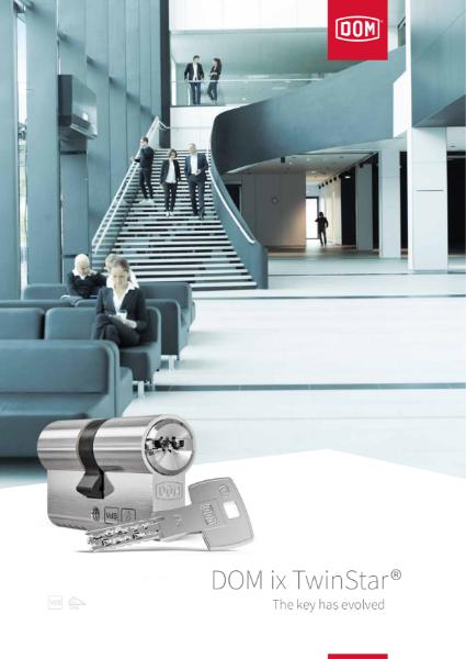 DOM ix Twinstar Reversible Mechanical locking system